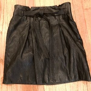 FREE PEOPLE Faux Leather Mini Skirt 2 NWT